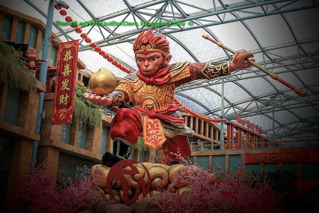 The Monkey King, Chine New Year decoration, Sentosa, Singapore