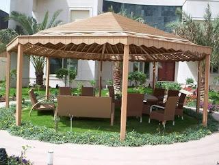 افكار مظلات حدائق - مظلات قماش