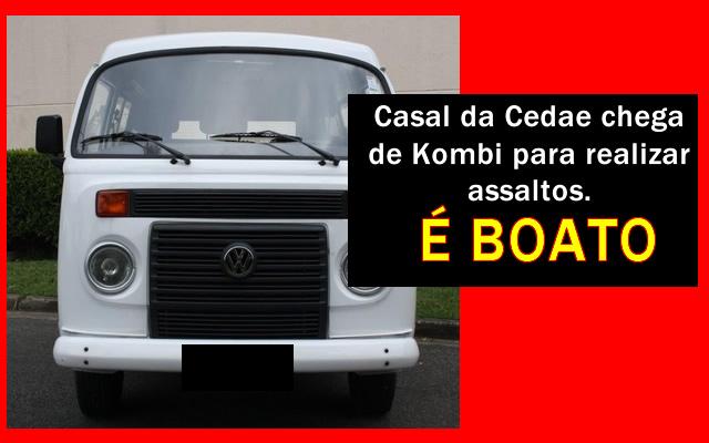 Casal da Cedae chega em Kombi pede amostra de água e assalta residência