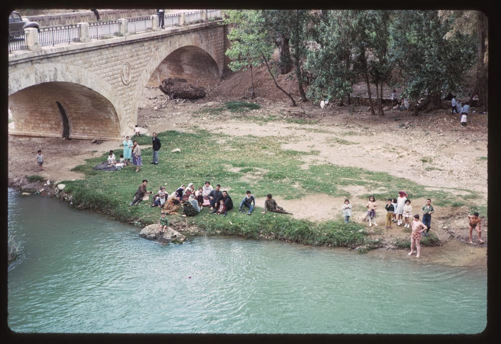 arab refugees along dog river charles cushman