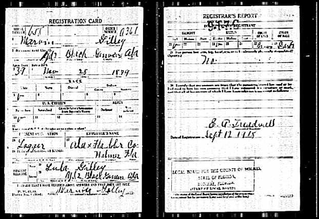 Karen's Family Files: World War I Draft Registration Cards