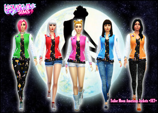 Chaquetas Americanas de Sailor Moon para Los Sims 4 | Sailor Moon Forever: Blog