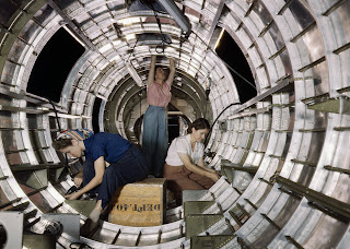 Women working on B-17F Bomber, California , 1942
