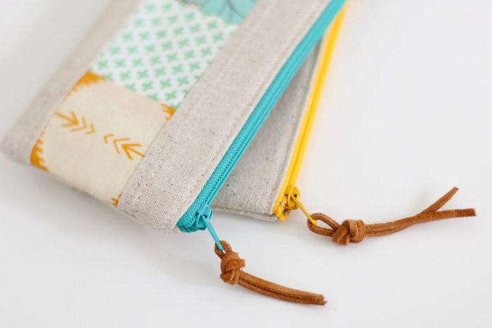 Patchwork Zipper Pouch DIY Tutorial