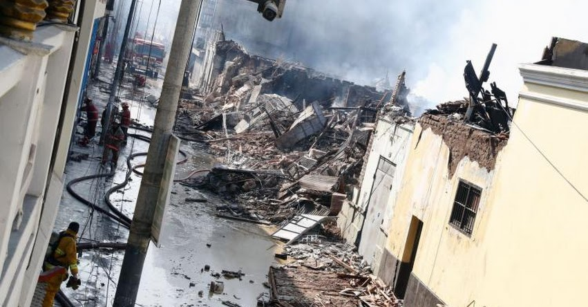 Colegio «Jesús Reparador» ubicado cerca a zona de incendio en el centro de Lima, suspenderá clases durante una semana