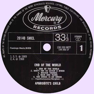 APHRODITE'S CHILD - END OF THE WORLD [Rain And Tears] (1968) lp