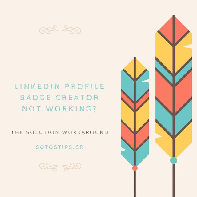 Linkedin Profile Badge Creator not working?