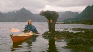 Geoff in his Vyneck in Iceland with fisherman-farmer Axel