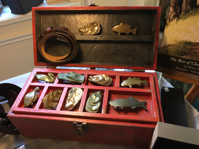 Oyster Red Fish Brand Belt Buckles at Southeastern Wildlife Expo (SEWE) 2017 | The Lowcountry Lady