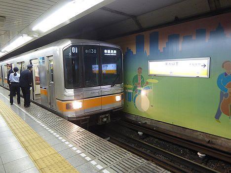銀座線 赤坂見附行き 01系(渋谷駅改良工事に伴う運行)
