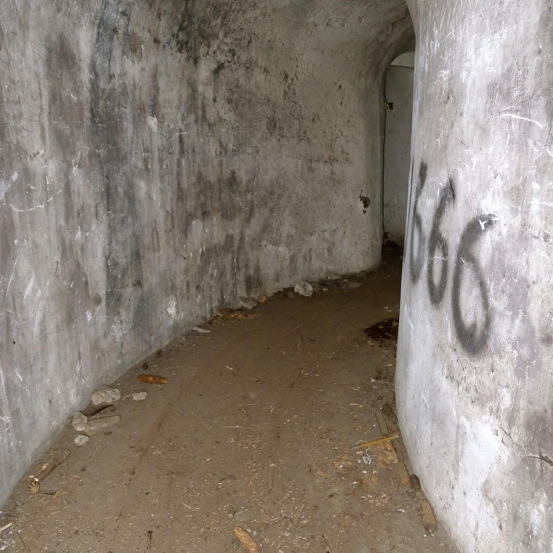 Bunkeris Antakalnyje, vaizdas viduje