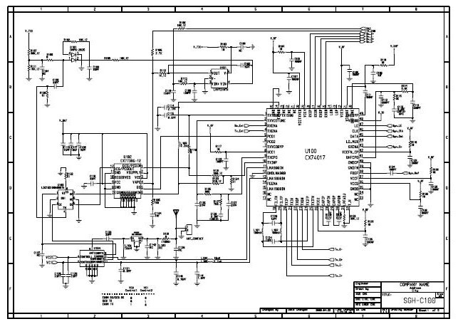 Samsung SGHC100 Schematic Diagram  Phone Diagram
