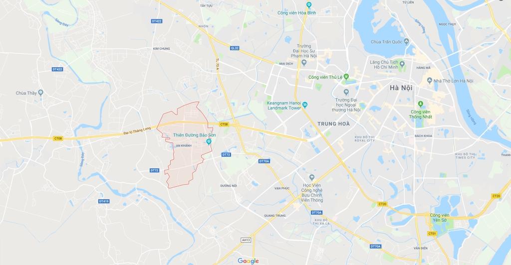 Vị trí xã An Khánh huyện Hoài Đưc