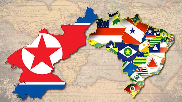 www.fertilmente.com.br - Comparativos da Coreia do Norte com os Estados Brasileiros