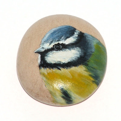 Wooden pebble painting