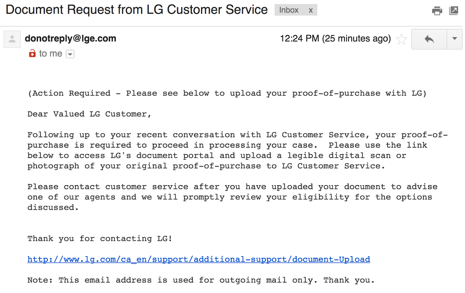 Cottage Country Reflections: LG Customer Relations are horrible