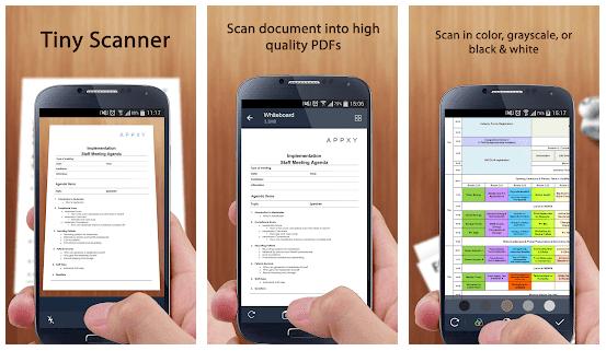 Tiny Scanner - Μετατρέψτε οποιοδήποτε φυσικό έγγραφο σε ψηφιακή μορφή