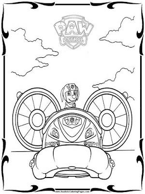 paw patrol coloring sheets free