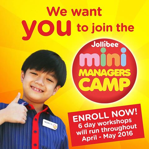 training on jollibee The jollibee kids club mini managers camp is a 6-day workshop for kids 4 – 12   like leadership and responsibility through various fun learning activities.