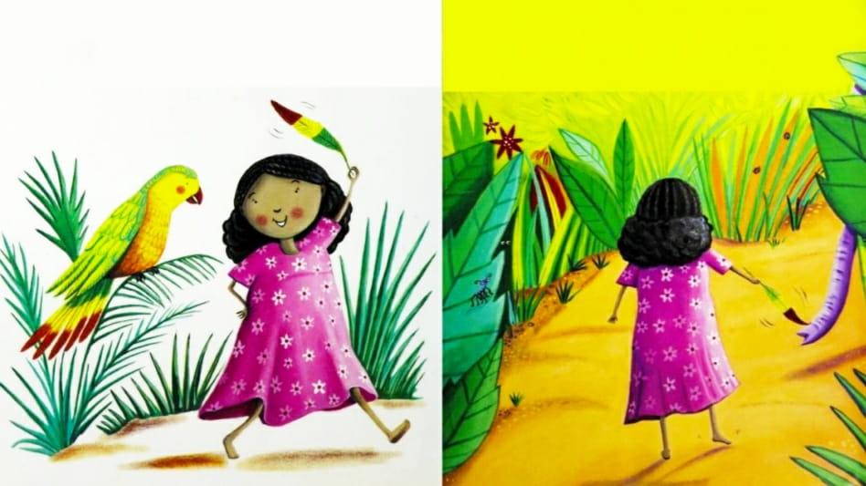परियों की कहानी में एक सुंदर केले की कहानी