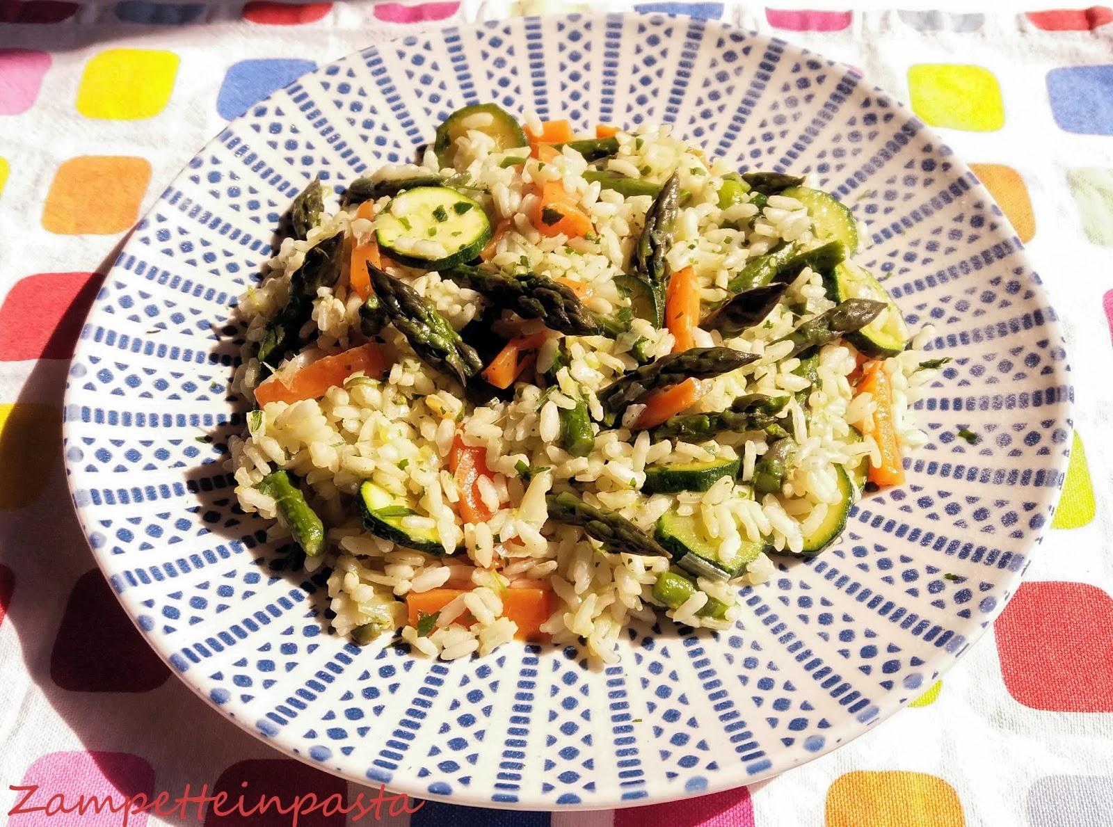 Risotto Asparagi Zucchine.Zampette In Pasta Riso Con Asparagi Carote E Zucchine