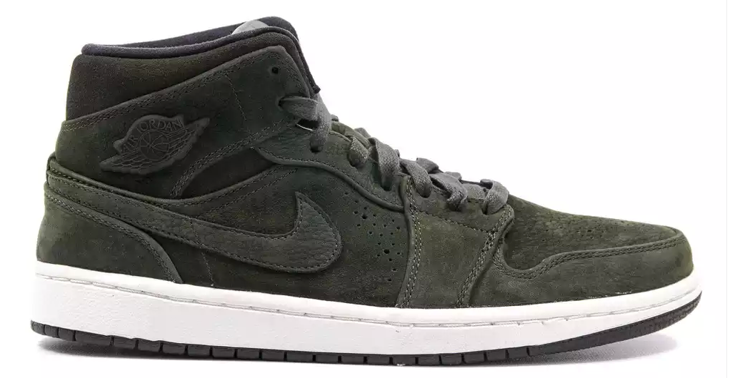AIR JORDAN 1 MID NOUVEAU - SEQUOIA BLACK SAIL. source. Posted ... 194f25c12f0c