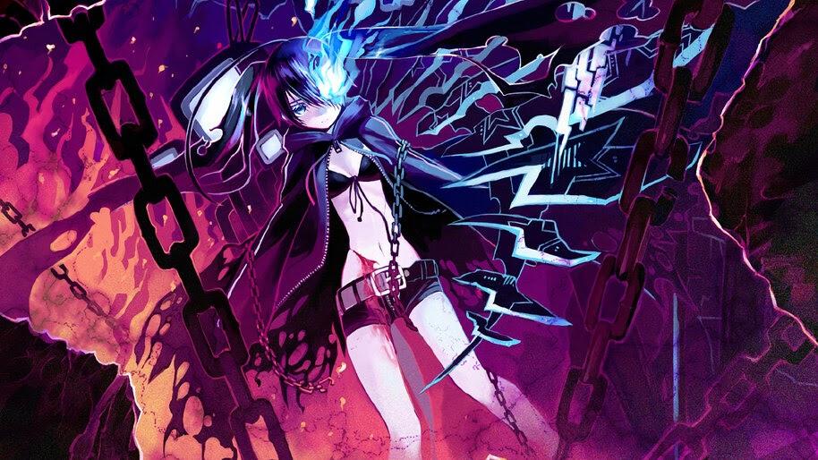 Anime, Girl, Fantasy, Black Rock Shooter, 4K, #252