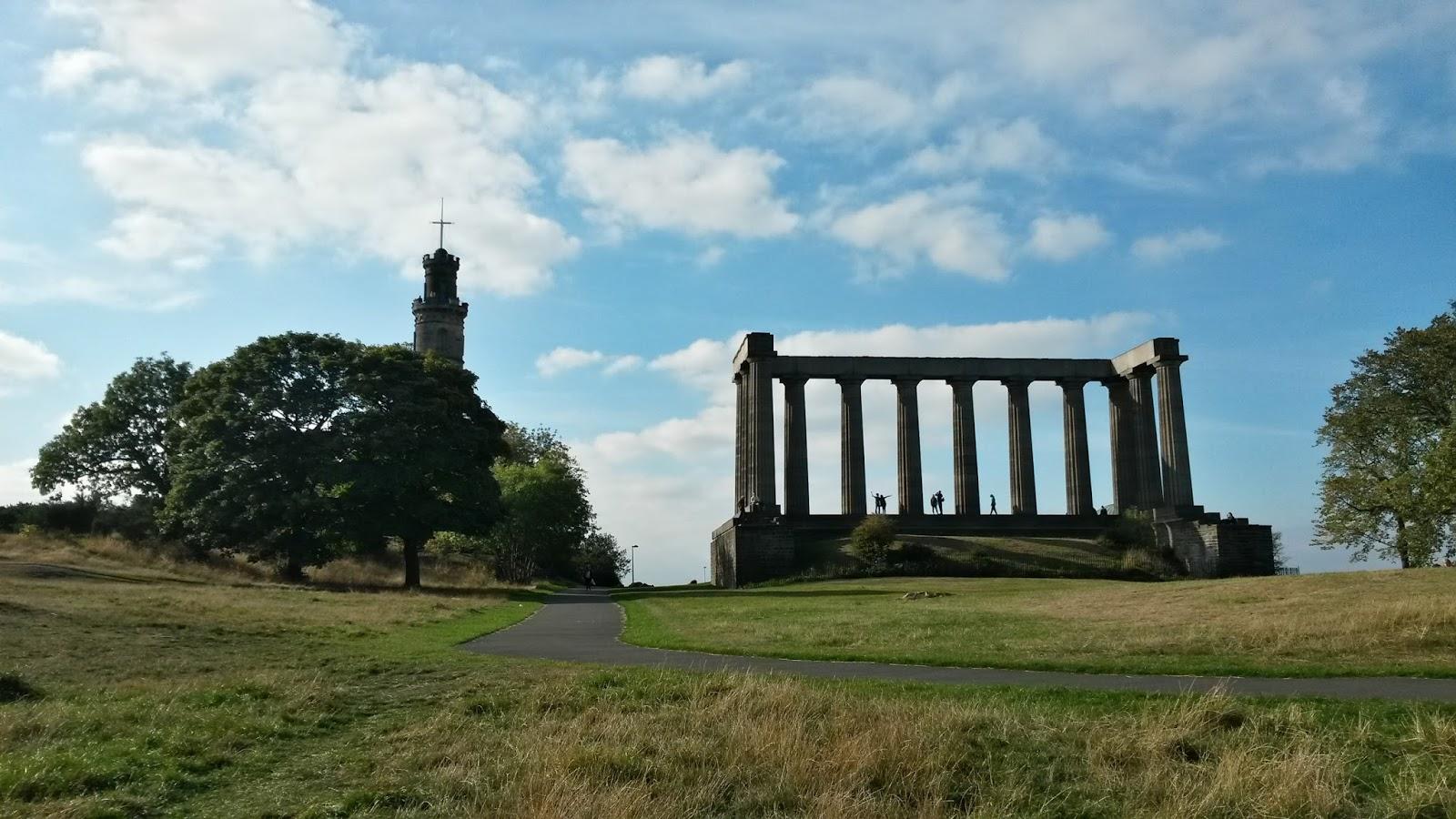 edinburgh scotland iskoçya calton hill nelson monument britanya
