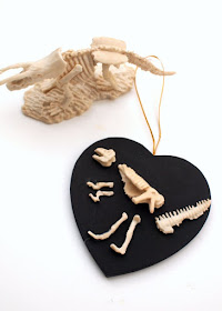 dinosaur fossil dig inspired art project for kids