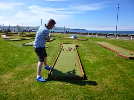 Crazy Golf course on Ayr seafront