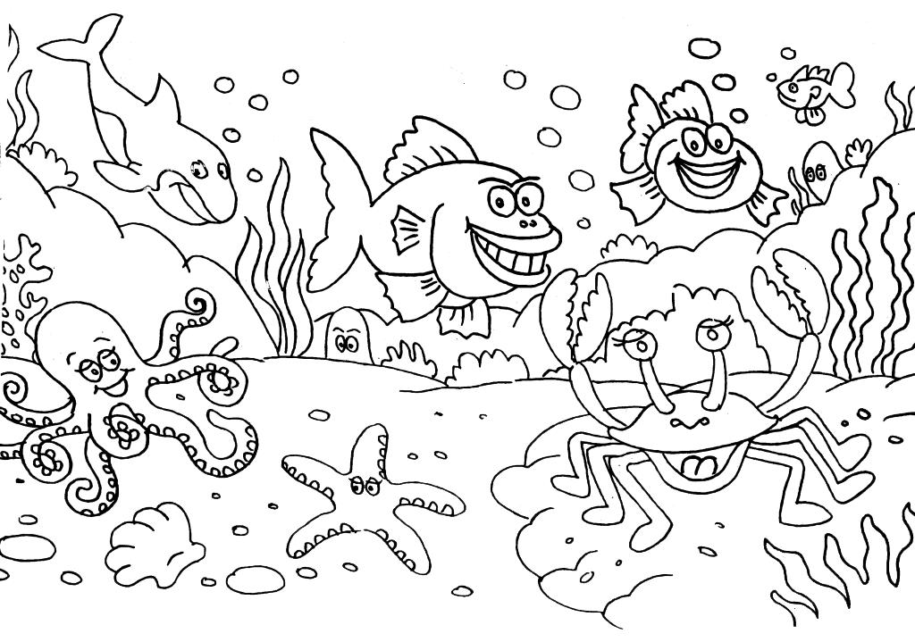 Mewarnai Gambar Pemandangan Bawah Laut