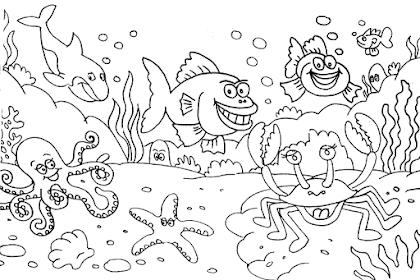 Gambar Untuk Mewarnai Pemandangan Bawah Laut