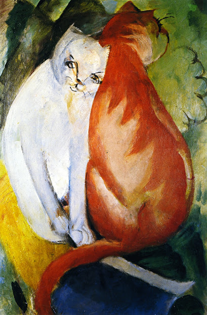 Franz Marc Red and White Cats
