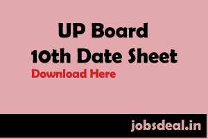 UP Board 10th Date Sheet 2017