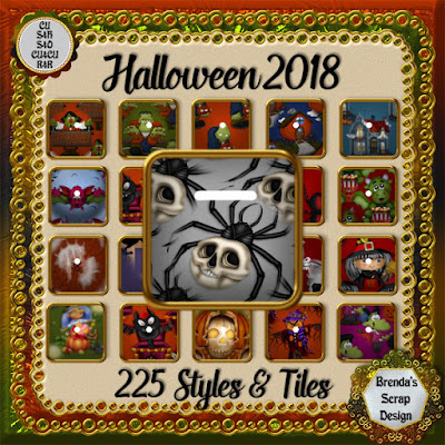 225 CU4CU Halloween Styles & Seamless Tiles. On Special Now $15.00