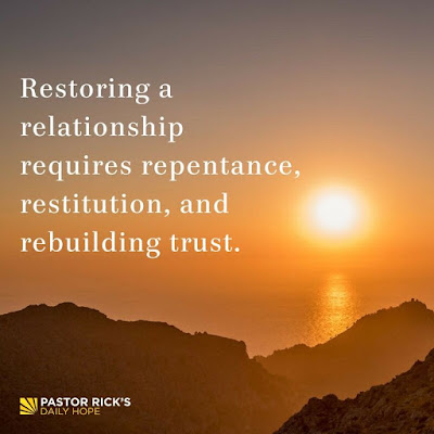 Requirements of Restored Relationship by Rick Warren