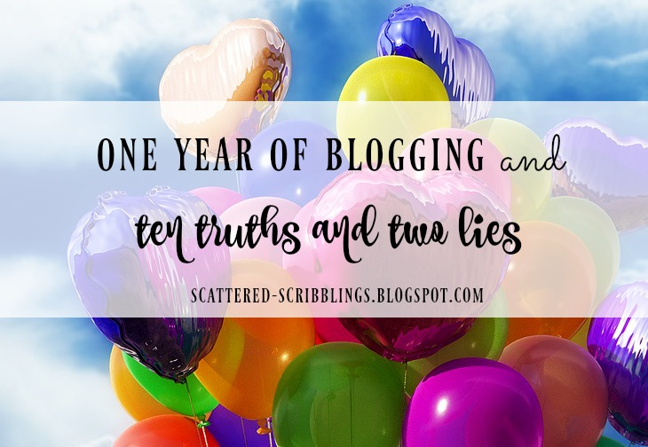 one year of blogging and ten truths and two lies [header image]
