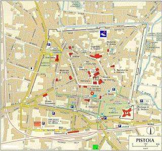 Mapa de Pistoia.