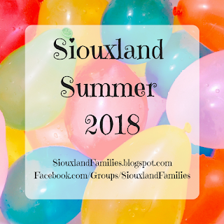 "picture of brightly colored water balloons with text reading ""Siouxland Summer 2018"""