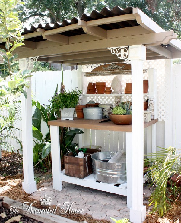 Shed potting bench garden shed it shares a lot with the inside the