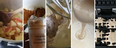 Zubereitung Lebkuchenwaffeln mit Apfel-Quitten-Kompott; Zubereitung schnelles Apfel-Quitten-Kompott