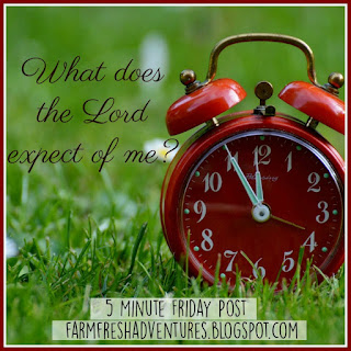What Does the Lord EXPECT of you? {Five Minute Friday}
