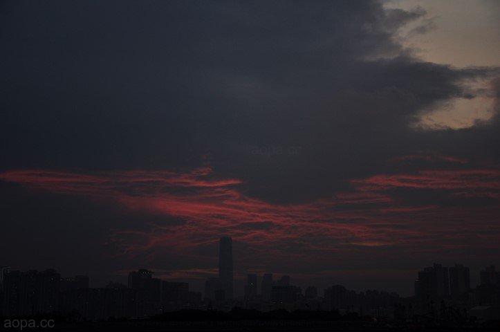 環球貿易廣場的火燒雲