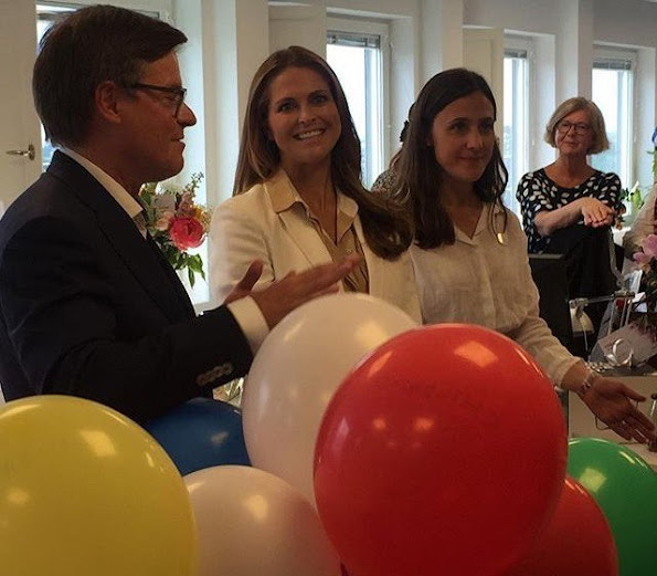 Princess Madeleine of Sweden attended the new office opening of Childhood Foundation in Stockholm
