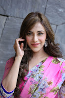 Angela Krislinzki Rogue Movie Fame Telugu Actress in Saree Backless Choli 122.JPG