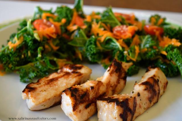 Ensalada de kale con pollo