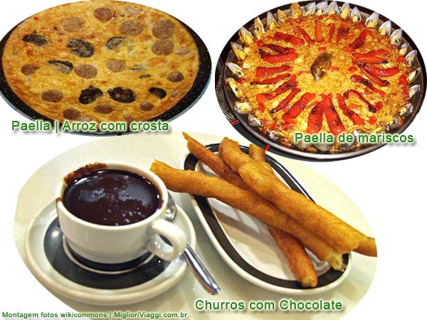 Paella e Churros com Chocolates | Comida típica espanhola