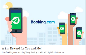 Get £15 off your first booking with Booking.com