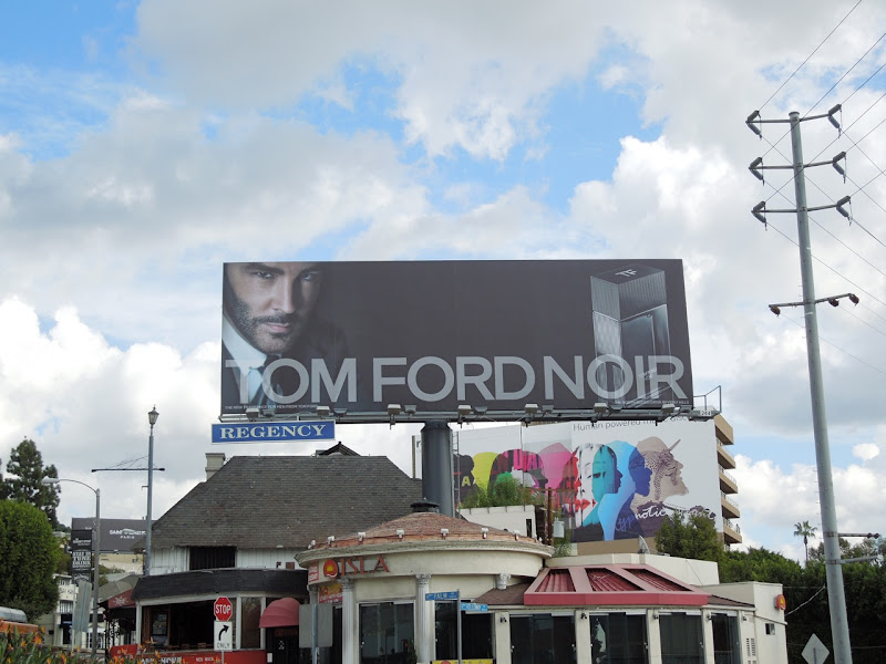 Tom Ford Noir fragrance billboard