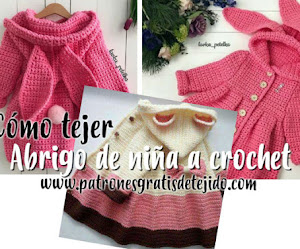 Abrigo con orejitas | Crochet para Nenas | Tutorial